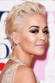 Rita Ora Nails A Rock 'Do At The Brits, 2015