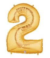 """40"""" Large Number Balloon 2 Gold"""