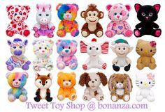 NEW Build a Bear Buddies and Smallfrys Mini Stuffed Plush Toy Animals In Stock Now at http://www.bonanza.com/booths/tweettoyshop