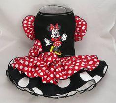 Small dog harness dress. Tutu skirt. Minnie Dot by poshdog on Etsy, $69.00