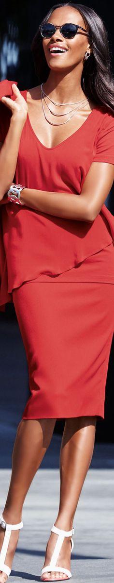 MADELEINE czerwona spódnica i top
