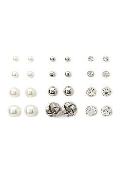 Faux Pearl Stud Set | Forever 21 - 1000154907