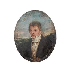 RESERVED FOR EA  Antique Miniature Portrait Of A by BeyondAntiques