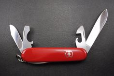 """Vintage Victorinox Swiss army knife- 91mm Tinker with """"Victoria Officier Suisse"""" tang stamp and flat side Phillips driver with file! by HobieonEtsy on Etsy"""