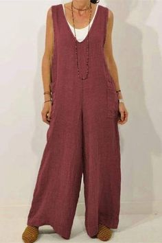 rompers women jumpsuits for women rompers dressy jumpsuits casual rompers outfit jumpsuit fashion classy jumpsuits Jumpsuits For Women, Rompers Women, Fashion Outfits, Womens Fashion, Types Of Sleeves, Wide Leg, My Style, Cotton, How To Wear