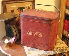 Vintage 1950s Coca Cola Cooler  Metal by AprilLikesOldStuff, $124.99