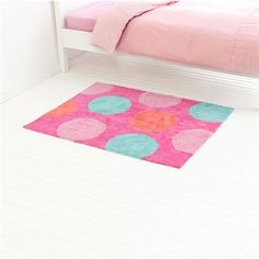 Image for Roomates Pink Spot Floor Rug from Kmart