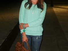 outfit post: http://thefashionshadowbygiulia.blogspot.it/2012/10/loving-color-tiffany-sweater.html