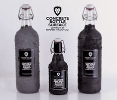 Concrete bottle surface by Remember The Lion