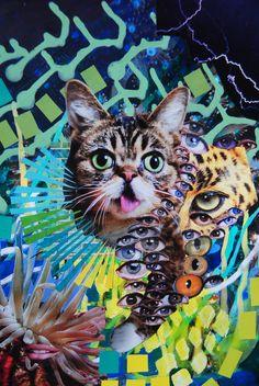 Cheshire Cat, John Turck Collage