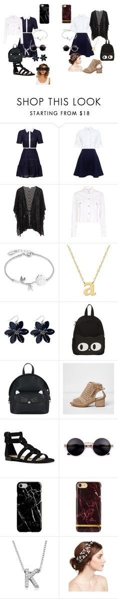 """K and A day/night out together ❤️❤️"" by littleangel66 ❤ liked on Polyvore featuring Draper James, Paul & Joe Sister, Maje, Disney, Jane Basch, Accessorize, Nine West, Recover and Jennifer Behr"