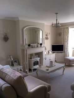 Taupe lounge (mums).               Farrow & ball clunch walls