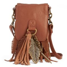 Mudd® Cintia Flap Crossbody Cell Phone Bag, Women's, Med Brown