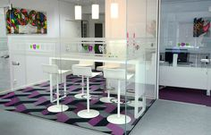 Bolon flooring in the dental clinic Vakkert Smil in Vestby, Norway