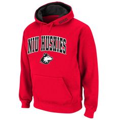Northern Illinois Huskies Classic Arch Logo Twill Hoodie – Red - $25.99