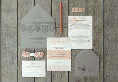Pretty wedding invitations...