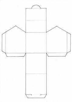 Faire une maison en volume par pliage et collage patron modele pinterest pliage collage - Gabarit boite en papier ...