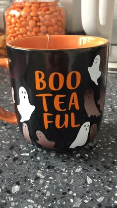Halloween Inspo, Halloween Mug, Halloween Treats, Halloween Decorations, Sainsburys, Tea, Mugs, Tableware, Holiday