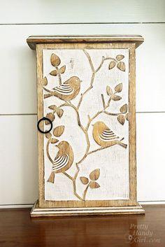 Decorative Key Box For The Wall Key Box Keys Hanger Key Organizer Cream Shabby Chic Key Holder