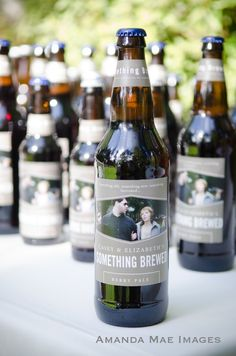 "Wedding Favors ""Something old, something new, something borrowed something BREWED"""