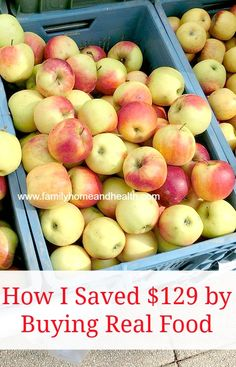 Have you wanted to start eating more real food for weight loss or health but felt that you couldn't afford it?  I understand!  I wanted to show you one of the ways I save money on real food.   Almost free snacks (or how I saved $129)! Now that fall is here we were able to...Read More »