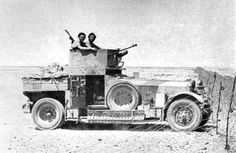 1924 Rolls-Royce Armoured Car with modified turret, in the Bardia area of the Western Desert, Lawrence Of Arabia, Afrika Korps, British Armed Forces, Armored Fighting Vehicle, Armored Vehicles, Armored Car, Ww2 Tanks, Car In The World, Panzer