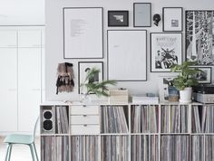 records + gallery wall