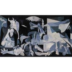 Guernica is the most famous art work by Picasso. It is his most powerful political statement, painted as an immediate reaction to the Nazi's devastating casual bombing practice on the Basque town of Guernica during Spanish Civil War.