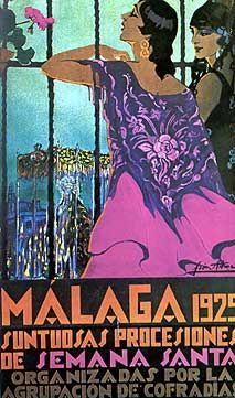 1929 Manuel León Astruc - SEMANA SANTA MALAGA