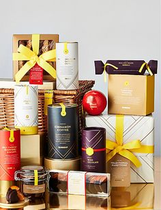 Food hampers to delight at Christmas time. Discover the Selfridges Hampers Collection online, like this alcohol-free hamper. Food Hampers, Cinnamon Coffee, Alcohol Free, Food Gifts, Christmas Time, Spices, Tea, Shopping, Collection
