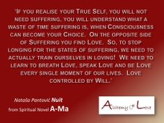 from a spiritual novel by Nuit
