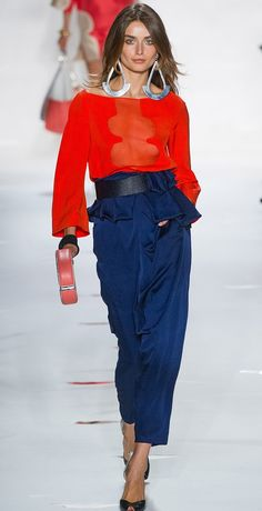 Diane von Furstenberg 2013- love the peplum pants, I'm making me some this spring 2013!