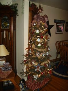 Primitive Country 6 Foot German Twig Christmas Tree - Great Brown ...