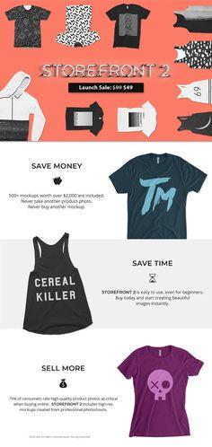 Storefront 2 Apparel Mockups Bundle by Photific on @creativemarket