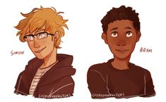 Simon and bram. I'VE BEEN LOOKING FOR FAN ART FOR AGES !!!!