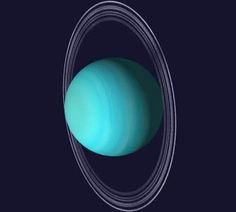 Uranus --- Another ringed planet.
