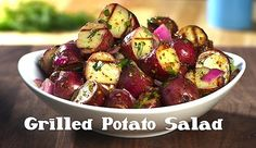 Nobody sticks sides in the corner! Chef and host Megan Mitchell puts a spin on the humble potato salad by grilling the potatoes first! Then, she adds fresh herbs and mustard for a tangy, delicious and mayo-free recipe that's a grill out winner every time! Humble Potato, Salad Recipes, Healthy Recipes, Grilling Recipes, Shinee, Potato Salad, Side Dishes, Chili, Veggies