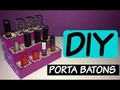 DIY - Do Lixo ao Luxo / Porta Batons feito com caixa de pasta de dente - YouTube