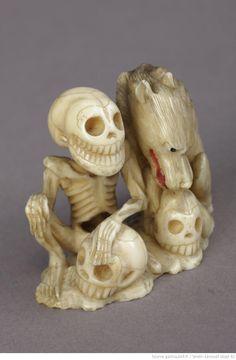 Loup et squelette _ collection Smith-Lesouef, BnF
