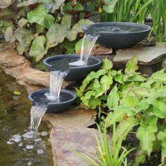 fontaine de jardin fontaine de jardin moderne 3 bassins fontaine de jardin moderne 3 bassins amnagement dextrieurs jardins pinterest - Fontaine De Jardin Moderne