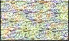 9 Free Patterns for Crocheted, Shell Stitched Afghans: Shells and Clusters Baby Blanket by Sandi Marshall