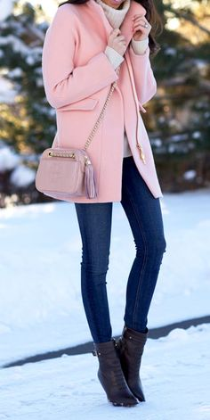 Pastel pinks and blues are perfect for the transition from winter to spring.