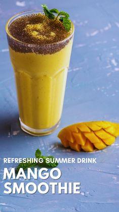 Summer Drink Recipes, Fruit Smoothie Recipes, Healthy Smoothies, Healthy Drinks, Healthy Dishes, Food Dishes, Indian Food Recipes, Indian Foods, Cooking Recipes