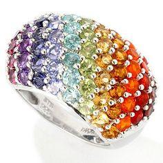 ShopNBC exotic rainbow multi gemstone (3.36 ctw) ring. Item number 115-770, $91.13.