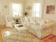 Dollhouse furniture-can you believe this is a dollhouse living room?