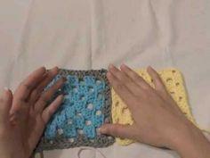 Básicos del Crochet: Unión de motivos Granny Square (parte 1 de 2) - YouTube