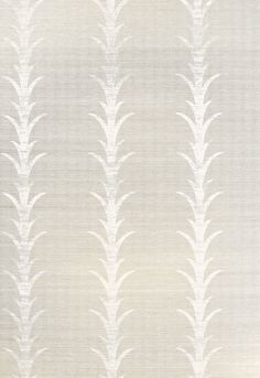Celerie Kemble for Schumacher Acanthus Stripe Fog & Chalk Wallpaper (Priced and Sold by the Yard. Must order in 8 yard increments. Minimum Order is 8 yards. Striped Wallpaper, Fabric Wallpaper, Of Wallpaper, Pattern Wallpaper, Grass Cloth Wallpaper, Painted Wallpaper, Wallpaper Ideas, Designer Wallpaper, Celerie Kemble