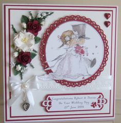 Wedding card with Lily of the Valley image,