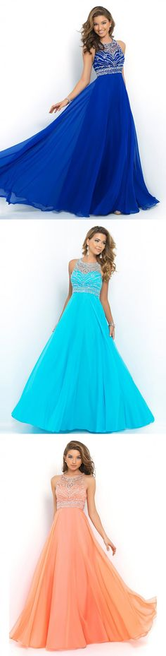 Sheer neck long prom dresses evening gowns 2016