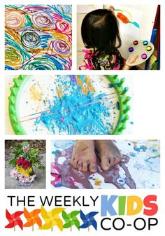 18+ Awesome Preschool Art Activities at the NEW Weekly Kids Co-Op Blog!